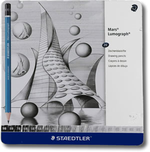 Staedtler Mars Lumograph Graphite Pencils - Tin of 20