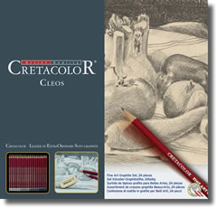 Cretacolor Cleos Graphite Pencils Tin of 24