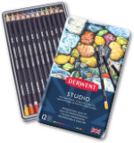Derwent Studio Colour Pencils Tin of 12