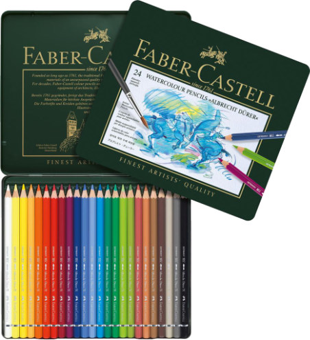 Faber Castell Albrecht Durer Watercolour Pencils Tin 24
