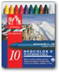 Caran D'ache Neocolor II Watersoluble Wax Pastels Tin of 10