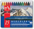 Caran D'ache Neocolor II Watersoluble Wax Pastels Tin of 15