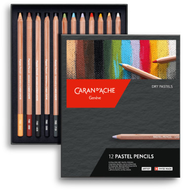 Caran D'Ache Pastel Pencils Box of 12