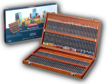 Derwent Procolour Pencils - Wooden Box of 72