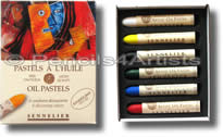 Sennelier Oil Pastels - Box 6 Assorted Colours