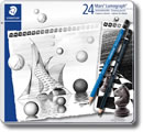 Staedtler Mars Lumograph Graphite & Lumograph Black Pencils - Tin of 24