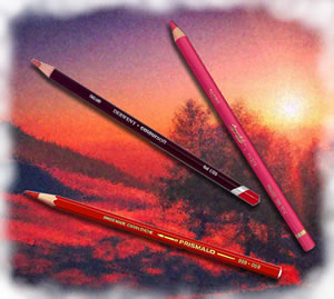 Pencils4artists Colour Compare Set of 12 Red & Pinks