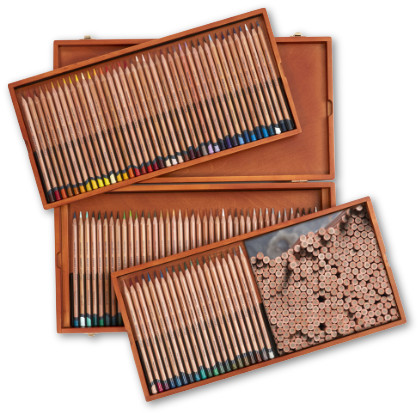 Derwent Lightfast Pencils Wooden Box of 100