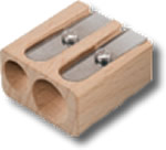 Lyra Pro Natura Double Hole Wooden Sharpener