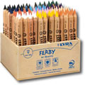 Lyra Ferby box of 96 natural wood barrel