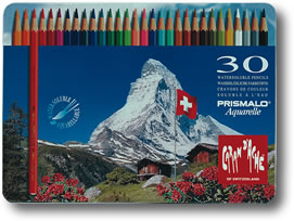 Caran D'Ache Prismalo Watersoluble Colour Pencils Tin of 30
