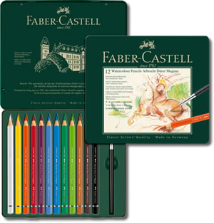 Faber Castell Albrecht Durer Magnus Watercolour Pencils Tin of 12