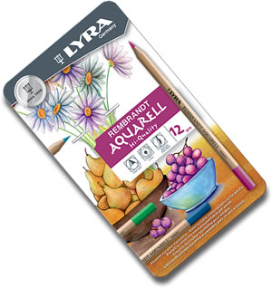 Lyra Rembrandt Aquarell Watercolour Pencils tin of 12 L2011120