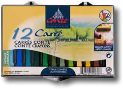 Conte Carres Crayons Box of 12 Landscape Colours