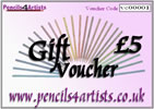 Pencils4artists £5 Gift Voucher