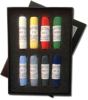 Unison Colour Hand Made Soft Pastels - Starter Set of 8