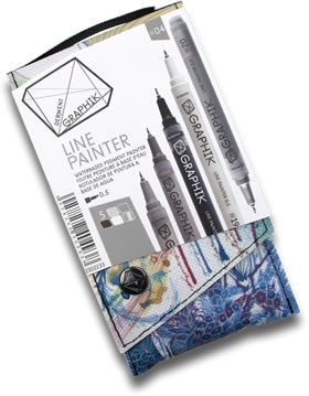 Derwent Graphik Line Painter Pens Pack of 5 Palette 4