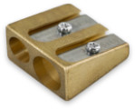 Kum 2 Hole Brass Sharpener